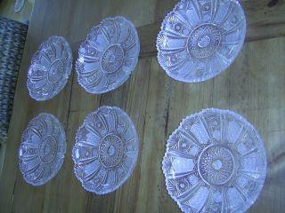 6 X Dessertschalen Geschliffenes Bleikristall Schalen Glasschüsseln Glasschalen Bild
