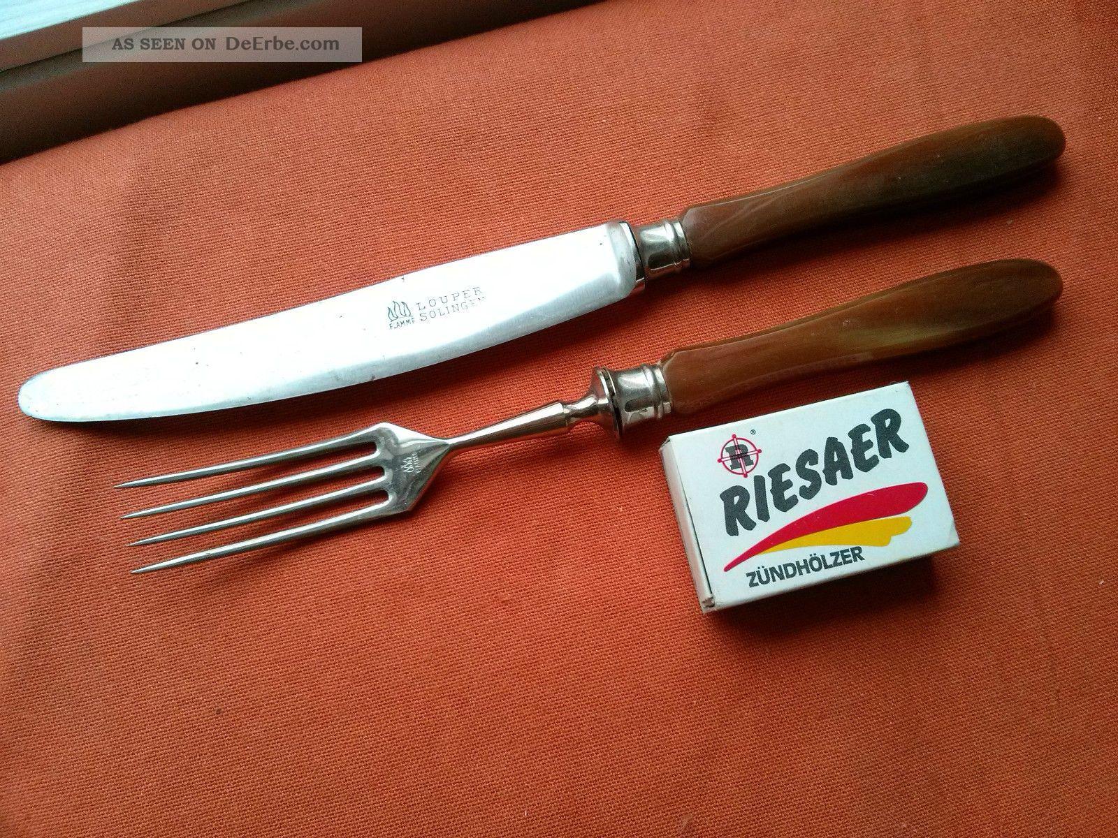 Antik 2tlg.  Besteck Messer & Gabel