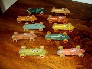 Uralt Spielzeug 10 Masse Auto Horch Dkw Rennwagen Elastolin Lineol Rar Bild