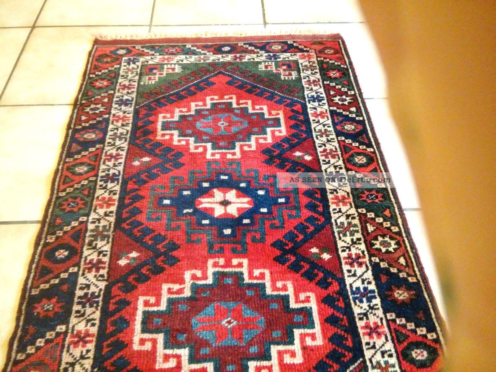alte handgeknupfte teppich bergama anatolien wolle auf wolle 125 x 72. Black Bedroom Furniture Sets. Home Design Ideas