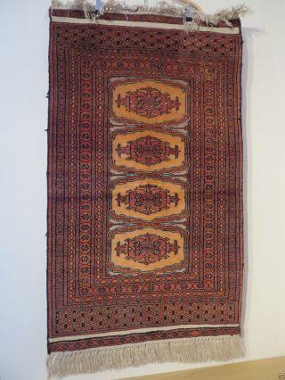 Oma`s Nachlass Orientteppich Perser 105 63 Cm Rot Fransen Teppich Flachgewebe Bild