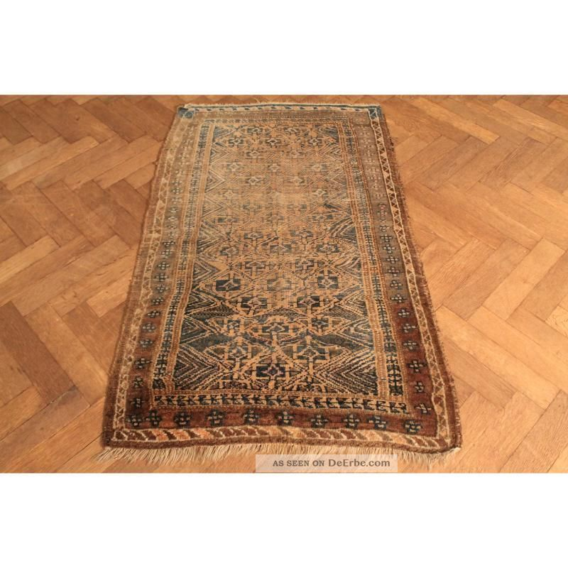 alter handgekn pfter orient teppich belutsch art deco old carpet tapis 150x90cm. Black Bedroom Furniture Sets. Home Design Ideas
