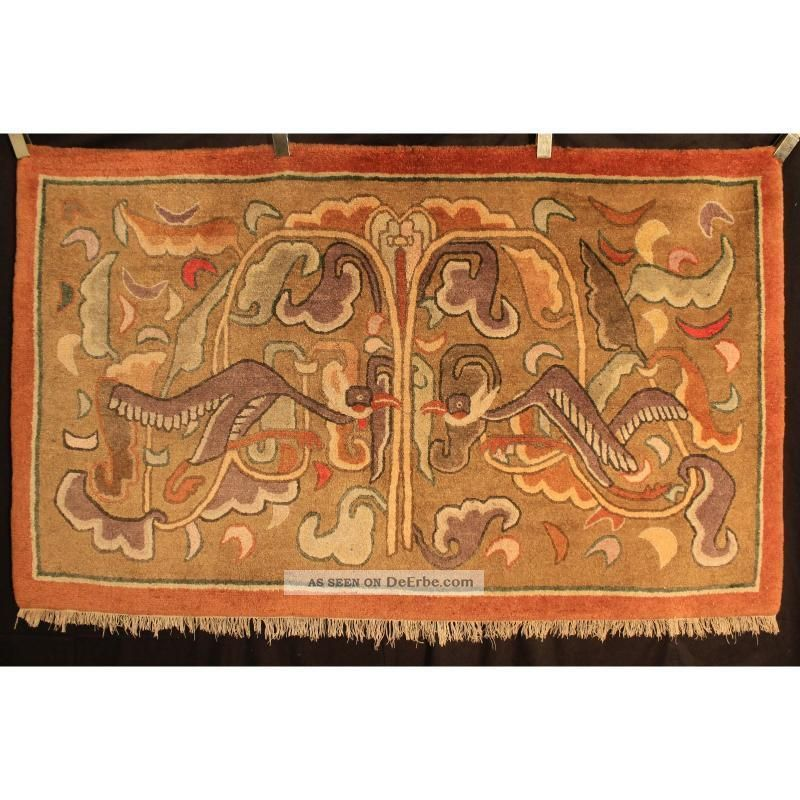 antik handgekn pfter orient teppich china art deco. Black Bedroom Furniture Sets. Home Design Ideas