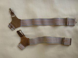 Paar Seltene Uralte Herren - Strumpfhalter Strumpfbänder Strumpfgummis Bild
