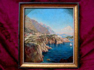 Südländische Landschaft Italien ? Handgemalt Auf Leinwand Schöne Deko Bild