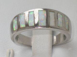 Art - Deco Silber Ring 7 X Opal Milchopal Design Sehr Ausgefallen Bild