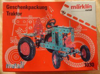 MÄrklin 1030 Geschenkpackung Traktor Metall Baukasten Ovp Bild