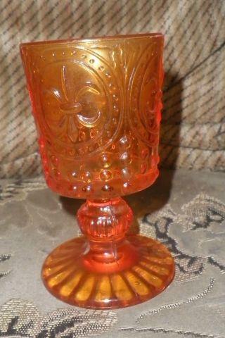 Sehr Altes Seltenes Bernsteinglas Der Freimaurer Fleur De Lis Bourbonlilie Bild