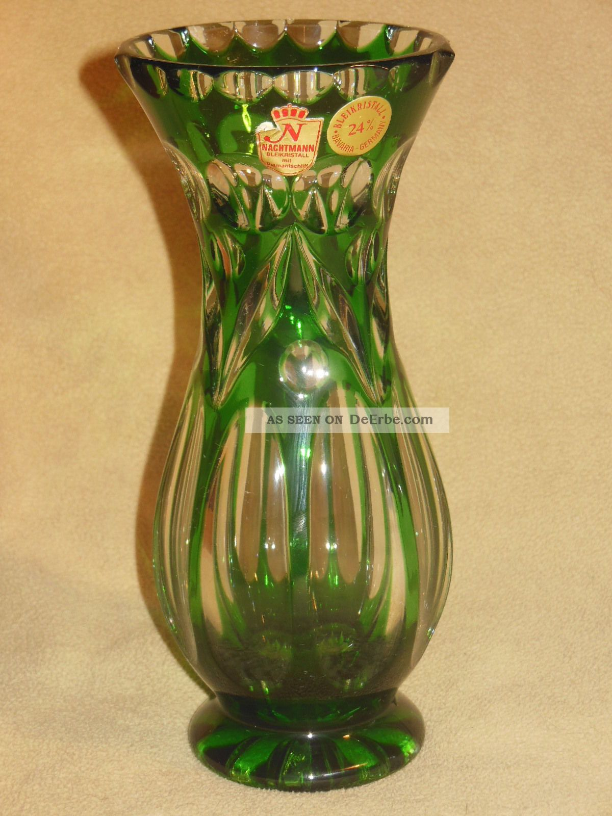 nachtmann bleikristall diamantschliff vase tischvase. Black Bedroom Furniture Sets. Home Design Ideas