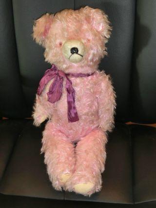 Schöner Alter Teddy / Teddybär Alt Antik / Holzwolle Gestopft Bild