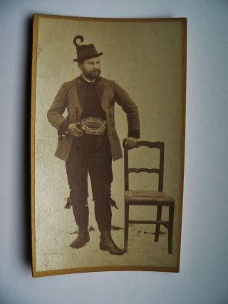 Auf Kartonfoto - 1887 Tyroler Bauer Bild