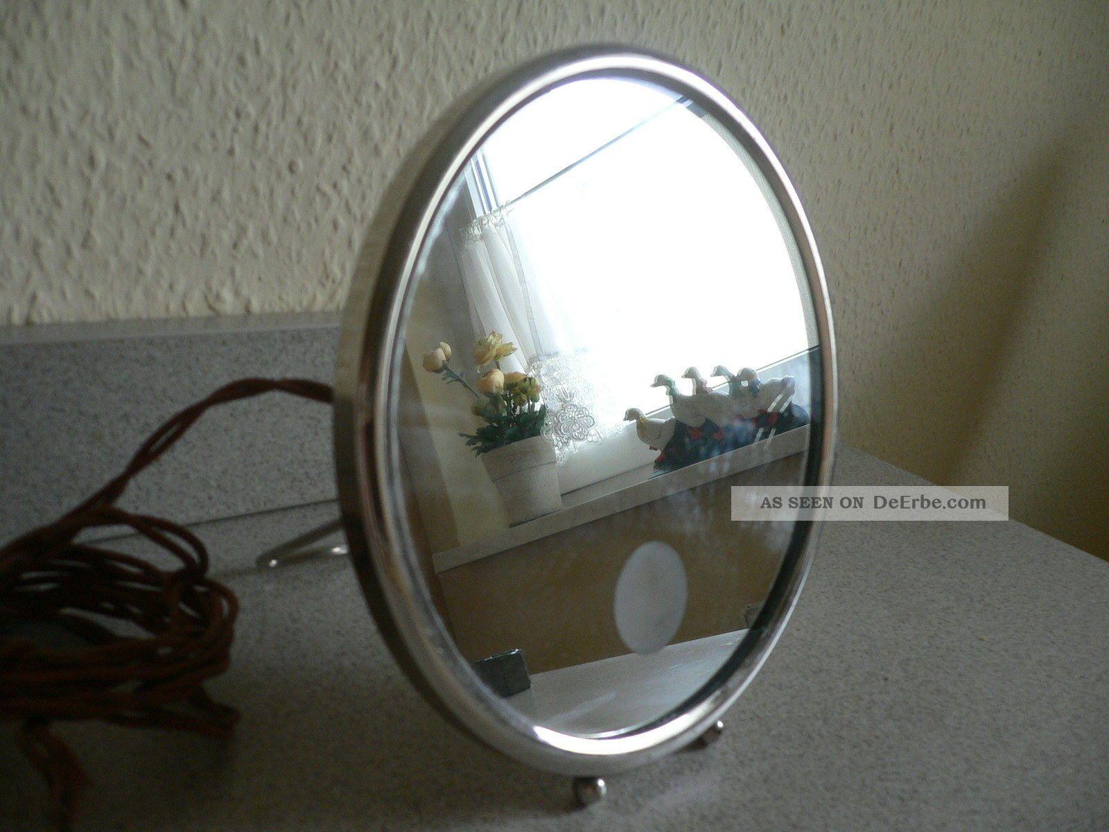spiegel rasierspiegel kosmetikspiegel mit lampe artdeco frankreich um 1930. Black Bedroom Furniture Sets. Home Design Ideas