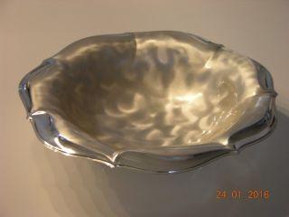Wmf - Ikora Metall Schale Ep Brass 70er Jahre Silverplated Bild