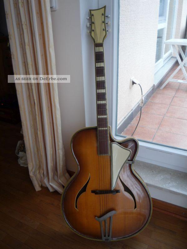 Tolle Gitarre Schlaggitarre 1956 Seifert Roger Migma Musima Markneukirchen ??? Saiteninstrumente Bild