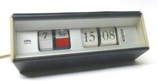 Copal 601 Synchronzeit Klappzahlenuhr Flip Clock Mit Datum 60er Jahre Vintage Bild
