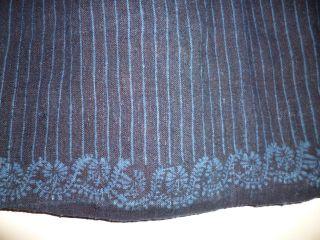 Antike Trachten Schürze Blaudruck Batik Norddeutschland Scheeßel Dachbodenfund Bild