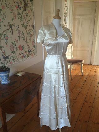 Art Deco 1930 Er Jahre Abendkleid Brautkleid Zweiteilig Bild