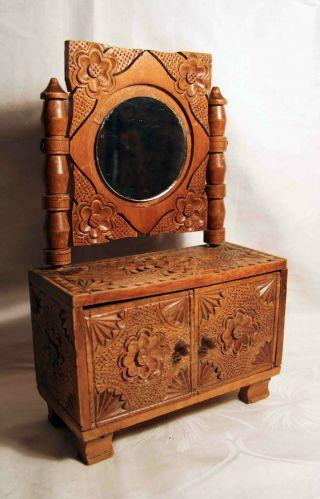 Seltener,  Antiker Spiegelschrank Bild