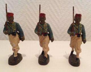 Elastolin/lineol,  Massesoldaten,  3 Marokaner ? Bild