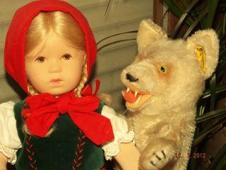 Käthe Kruse Puppe RotkÄppchen Ohne Steiff Handpuppe Wolf,  Diesen Auf Anfrage Bild