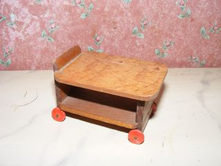 Alter Teewagen - Servierwagen - 40/50er J.  - Garten - Kaufladen - Puppenhaus - Puppenstube Bild