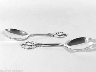 Frigast Denmark Salatbesteck ° Jugendstil / Art Deco Silver Plate Vorlegebesteck Bild