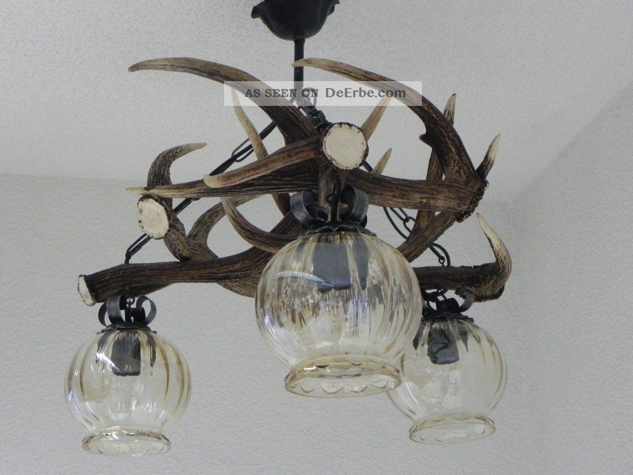 geweihlampe geweih lampe hirsch deckenlampe hirschgeweih geweihleuchte 92 3 1. Black Bedroom Furniture Sets. Home Design Ideas