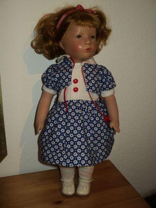 Alte Kleine Käthe Kruse Puppe Rotblond Bild