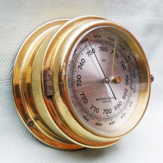 Barometer Im Messinggehäuse Sundo Marine - Baro Compens Für Den Schiffseigner Bild