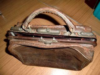 Handtasche Art Deco Bügel - Handtasche Bügeltasche Alte Leder Handtasche Bild