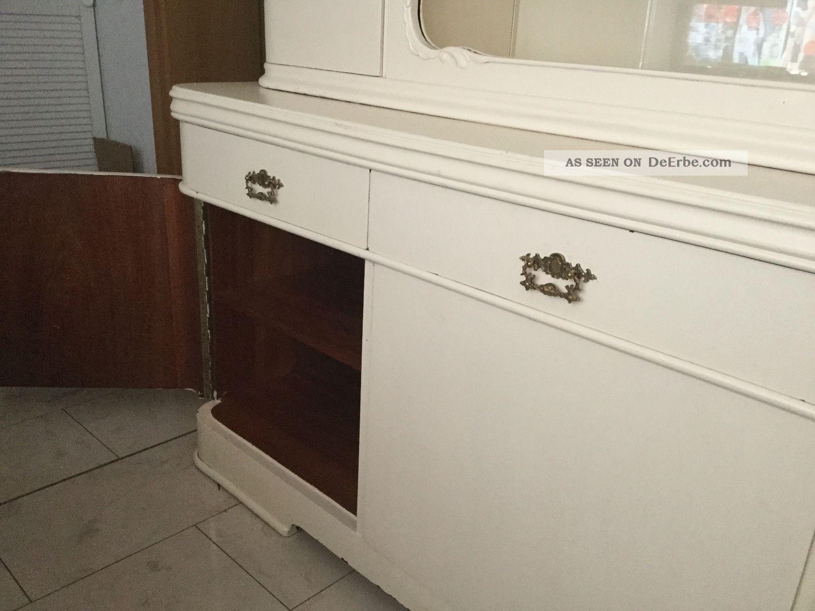 Altes Antikes Kuchenbuffet Shabby Chic Creme Vintage Stil Sehr Chic Vb