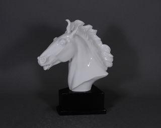 Meissen Oehme Pferd Pferdebüste Pferdekopf Maestoso Horse Figur Figure Figurine Bild