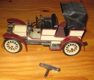 Alter Schuco Oldtimer Mercedes Doktorwagen Simplex 32 Ps 1902 - 1229 - Uhrwerk (3) Bild