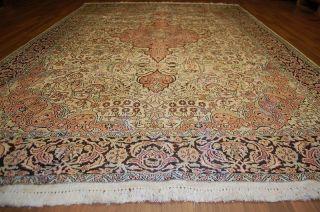 Wunderschöner Kaschmirseiden Teppich Ca: 280x185cm Frisch Gewaschen Handrug Bild