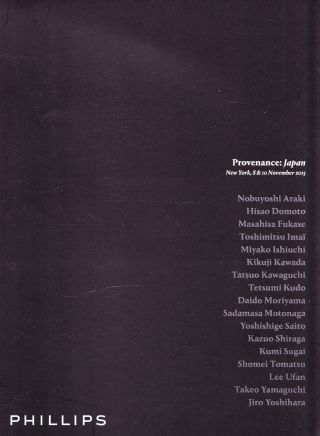 Japan Modern Art: Katalog Phillips N.  Y.  15,  Results Bild