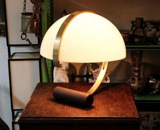 Rar Design Tisch Lampe Leuchte - Weisser Schirm Messing Hals - Art Deco Bild