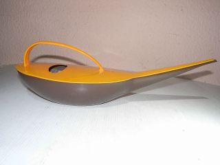 Ddr Design Gießkanne Aus Kunststoff Plastik Orange/braun Unbeschädigt & Sauber Bild