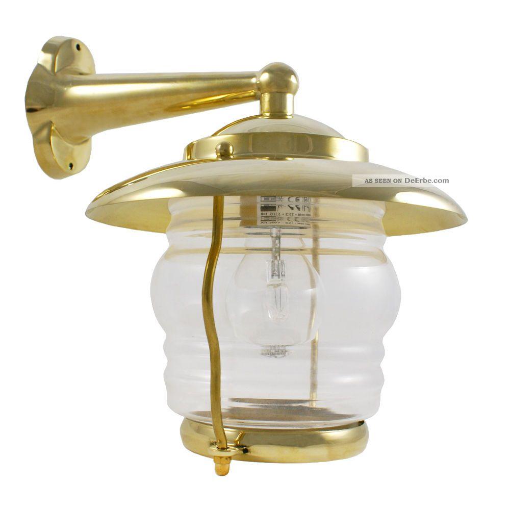 messing wandlampe im maritimen design f r 230v. Black Bedroom Furniture Sets. Home Design Ideas