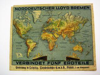 Plakat Norddeutscher Lloyd Bremen Bild