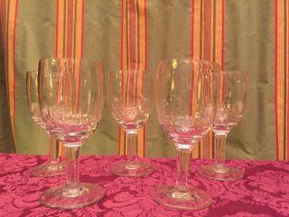 5 Antike Weingläser Kristall Val Saint Lambert Schön Geschliffen Edel & Stilvoll Bild