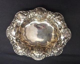 Kleine Ovale Silberschale Jugendstil Caldwell Sterling Silver Dish Bild