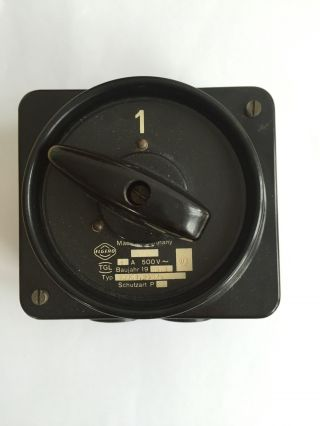Alter Bakelit Schalter Aufputz Lichtschalter AP Kippschalter Art Deco Loft