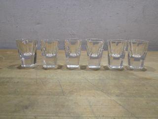 6 Stück Vintage Art Deco Kristallglas Bleikristall Schnaps Gläser Schnapsgläser Bild