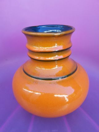 Jasba 1166 - 20 Keramik Vase 60er/70er Jahre Mid Century,  Wgp Orange Space Age Bild