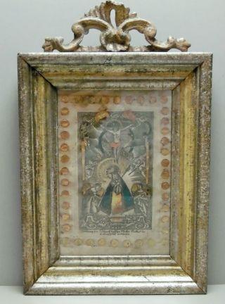 Farbiger Kupferstich Um1800 Abbildung Der Schmerzhaften Mutter Gottes /3 Bild