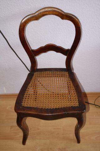 Stuhl Antik - Louis - Philippe - Stuhl - Buche Dunkel Bild