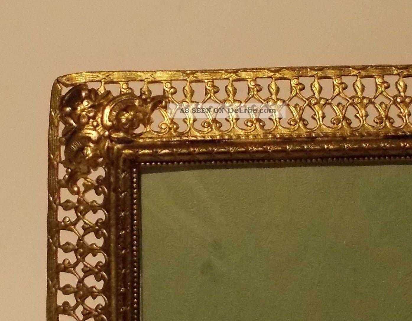 Alter Bilderrahmen 16, 5 X 11, 5 Cm Echt Bronze, Foto Rahmen ...