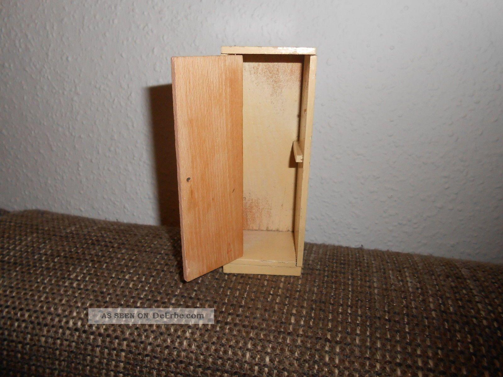 Antik Puppenstube Puppenhaus Mobel Kuche Holz Besenschrank