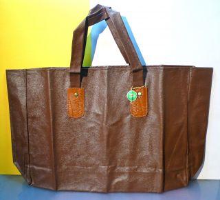 50er Jahre Tasche Einkaufstasche,  Braun - Lagerfund Bild