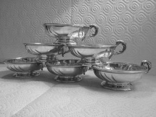 Sechs Dessert Schälchen In 835er Silber Bild